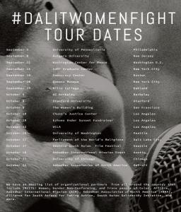 Dalit women fight tour dates