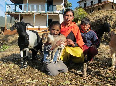 Nepal_-_Dalit_woman_Kamu_Sunuwar_and_her_children