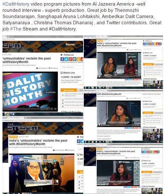 Al Jazeera Dalit history strram share pic - International Dalit