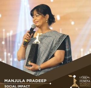 Manjula wins social impact award