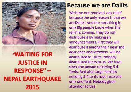 Nepal Quake relief discrimination