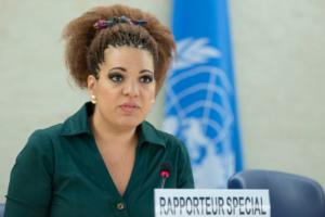 Rita Izsák-Ndiaye, UN Special Rapporteur on minority issues. UN Photo/Jean-Marc Ferré