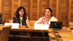 Renu Sijapati speaking at UN HRC41 Caste Gender Justice Event